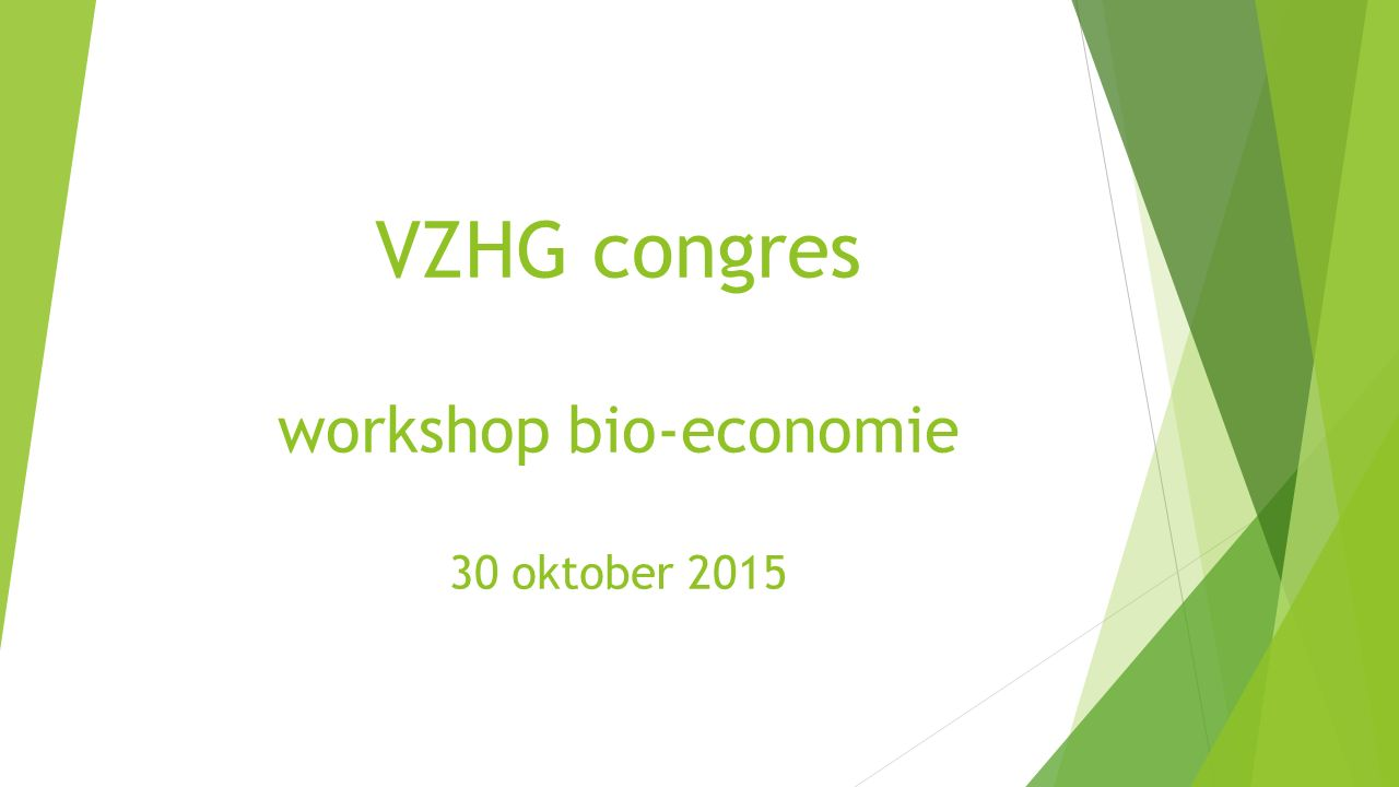 VZHG congres workshop bio-economie 30 oktober 2015