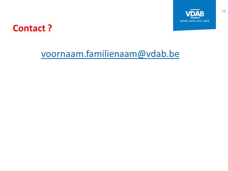 Contact voornaam.familienaam@vdab.be