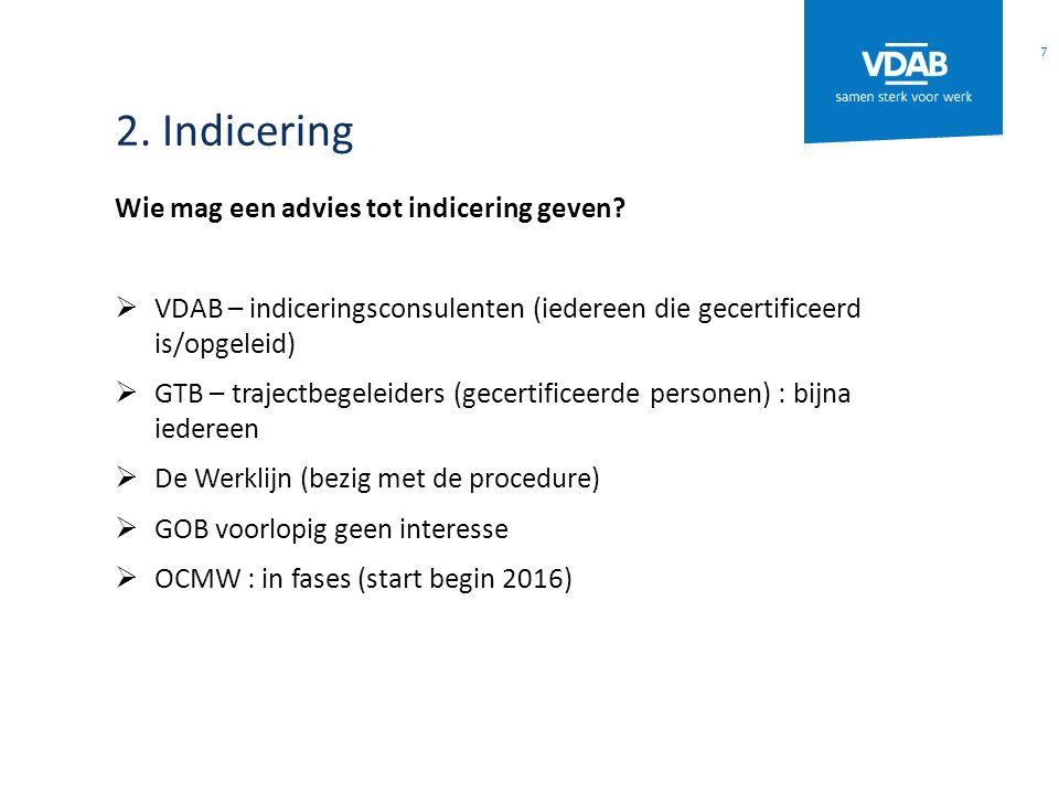 2. Indicering Wie mag een advies tot indicering geven