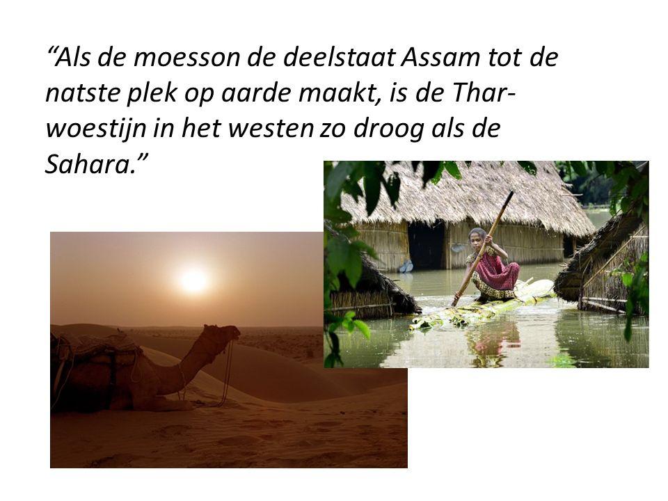 Als de moesson de deelstaat Assam tot de natste plek op aarde maakt, is de Thar-woestijn in het westen zo droog als de Sahara.
