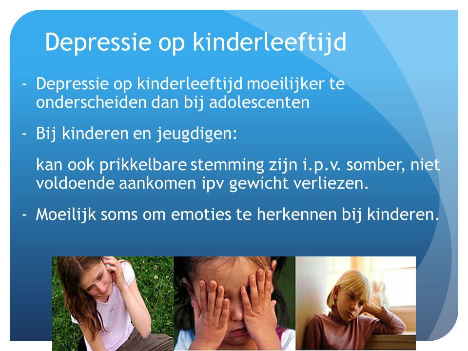 Depressie op kinderleeftijd