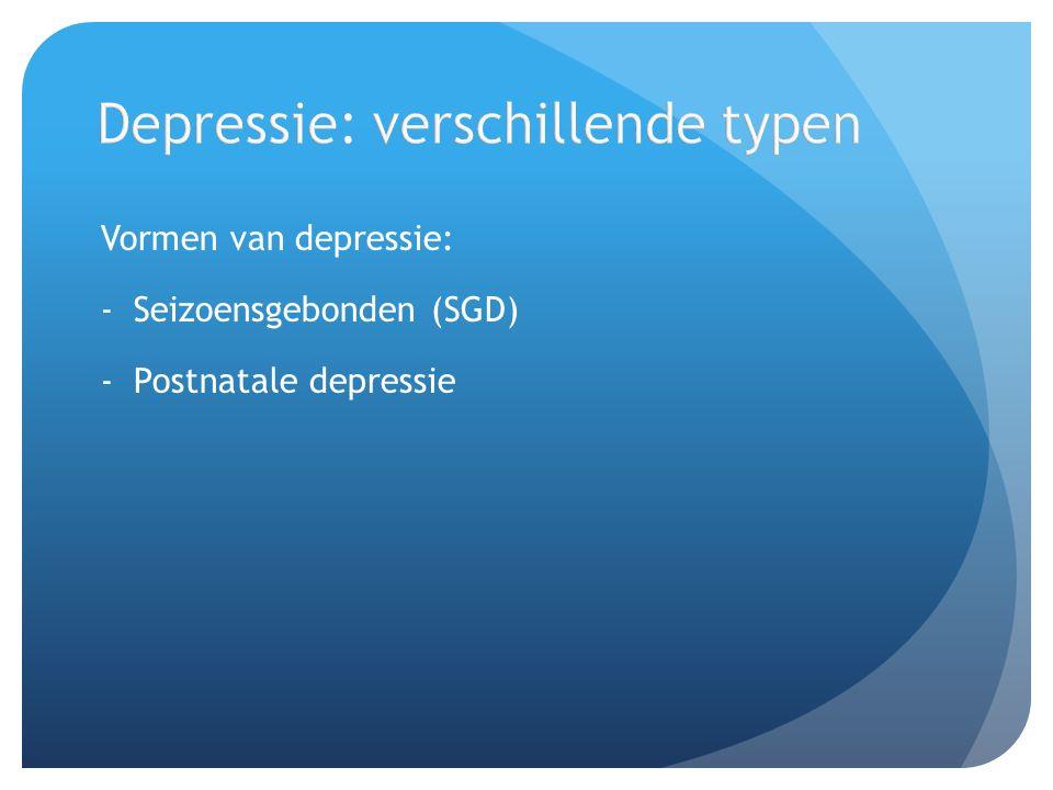 Depressie: verschillende typen