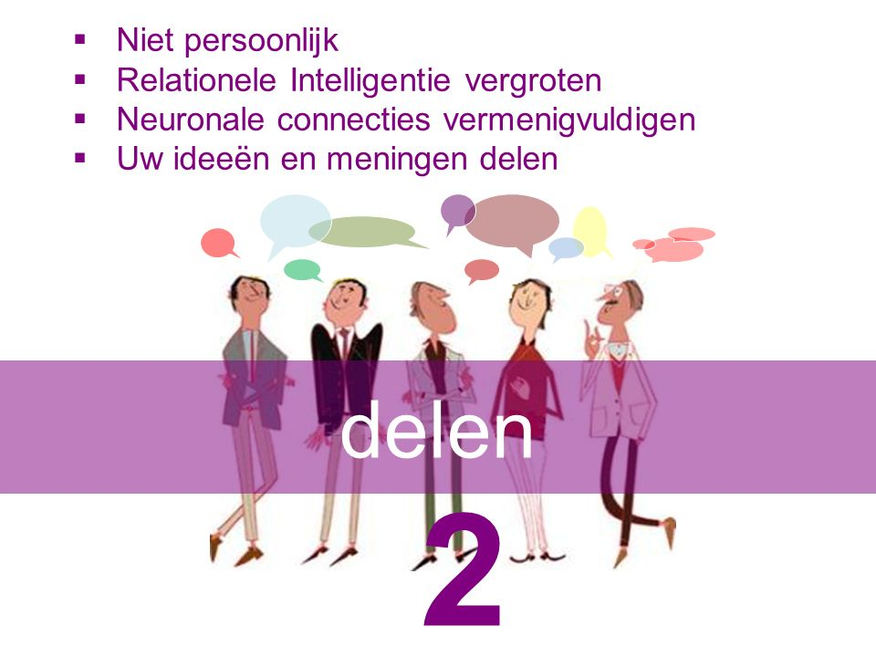 2 delen Niet persoonlijk Relationele Intelligentie vergroten