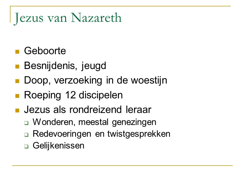 Jezus van Nazareth Geboorte Besnijdenis, jeugd