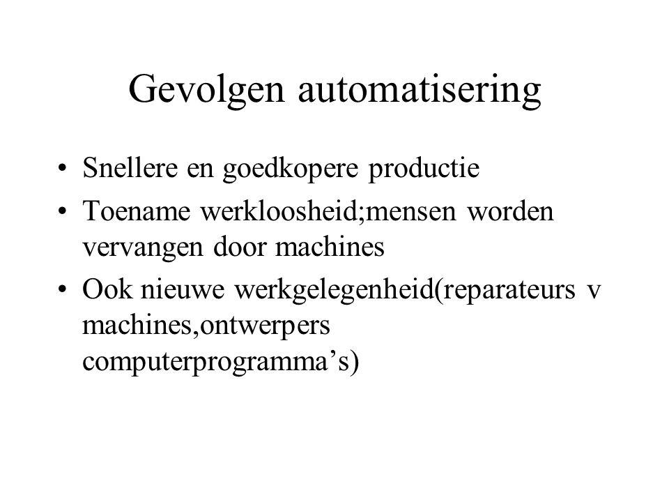 Gevolgen automatisering