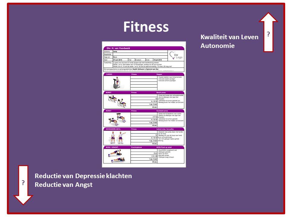 Fitness Kwaliteit van Leven Autonomie