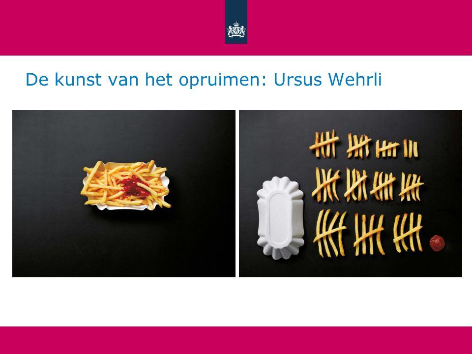 De kunst van het opruimen: Ursus Wehrli