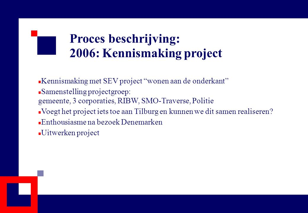 2006: Kennismaking project