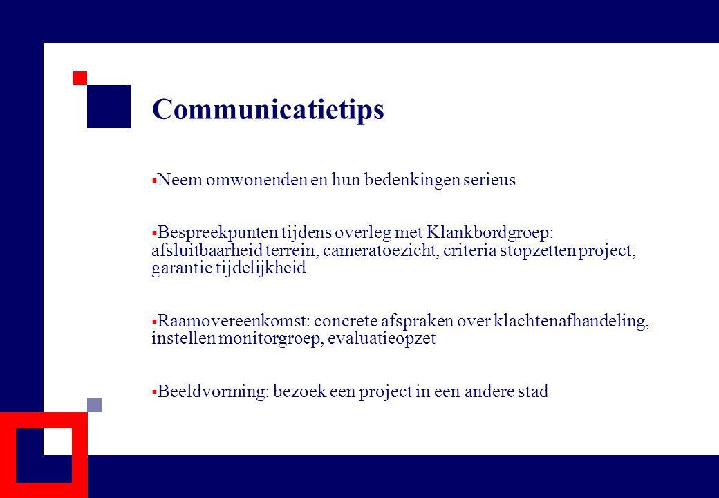 Communicatietips Neem omwonenden en hun bedenkingen serieus