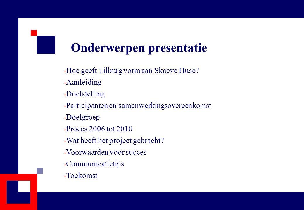 Onderwerpen presentatie