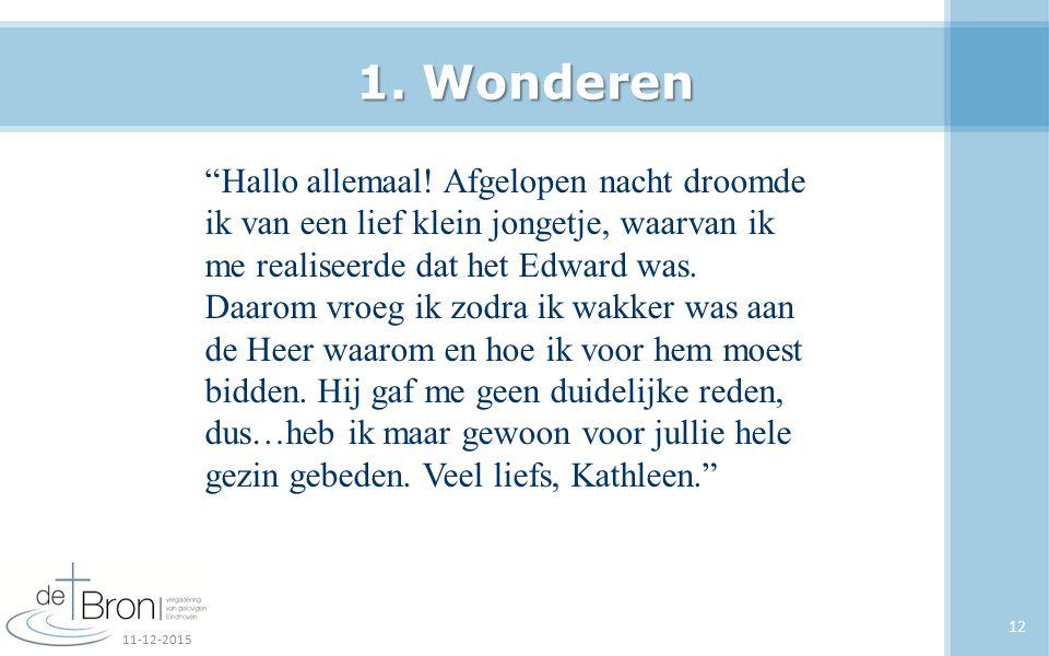 1. Wonderen