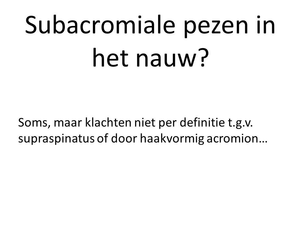 Subacromiale pezen in het nauw