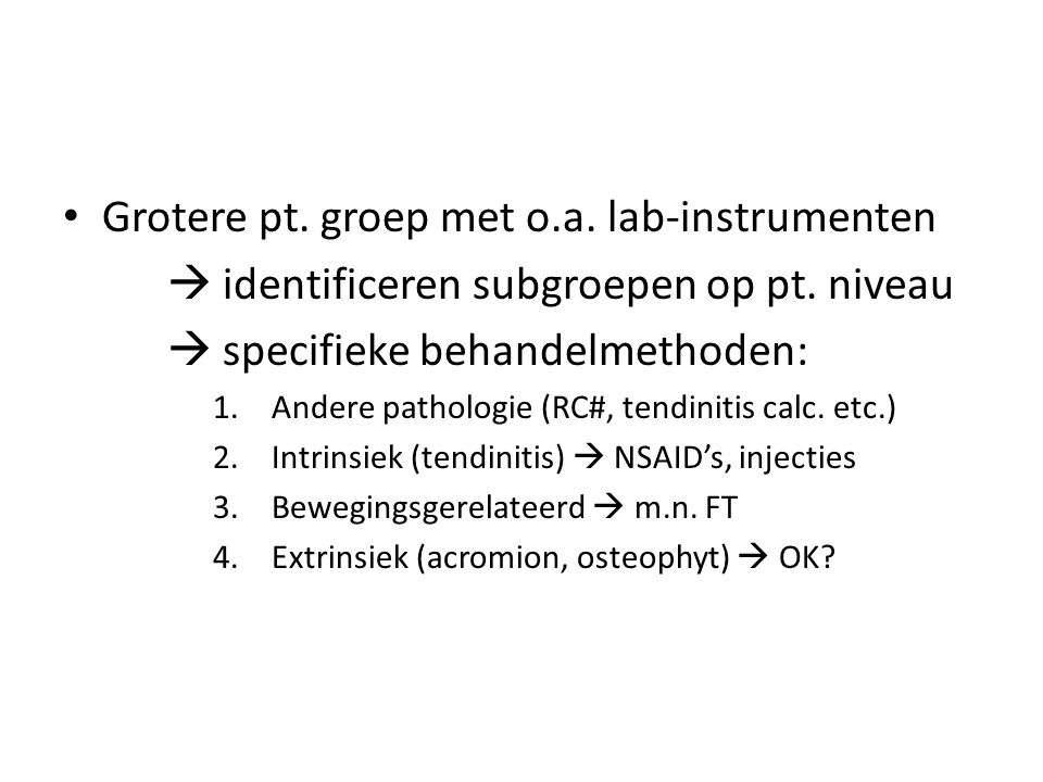 Grotere pt. groep met o.a. lab-instrumenten