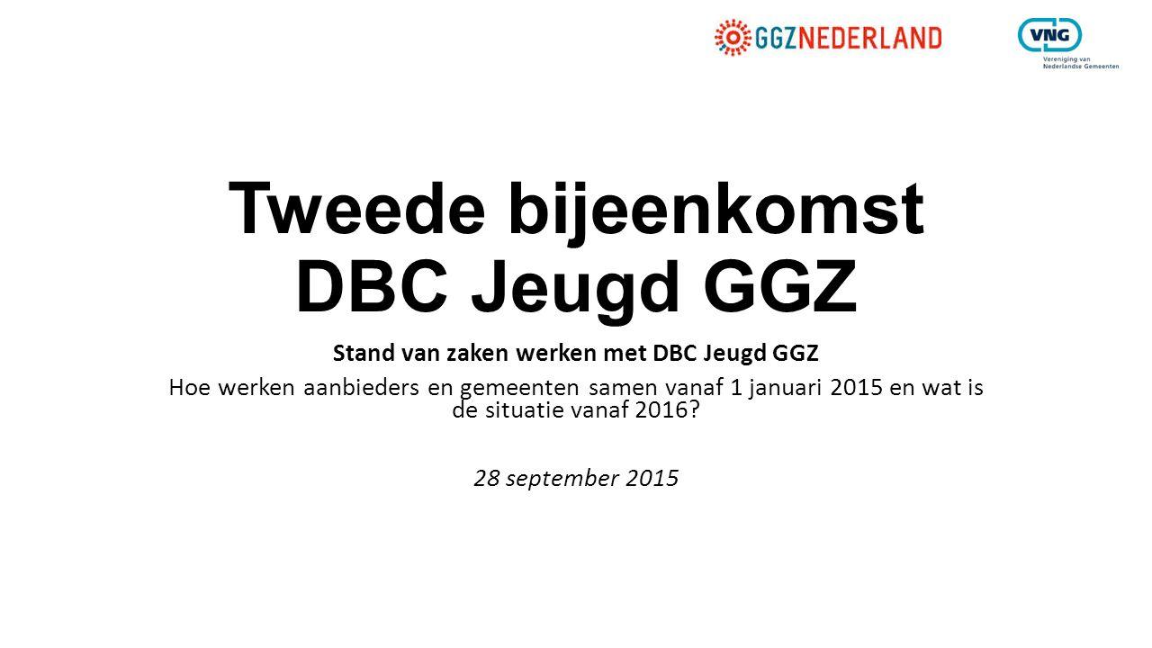 Tweede bijeenkomst DBC Jeugd GGZ