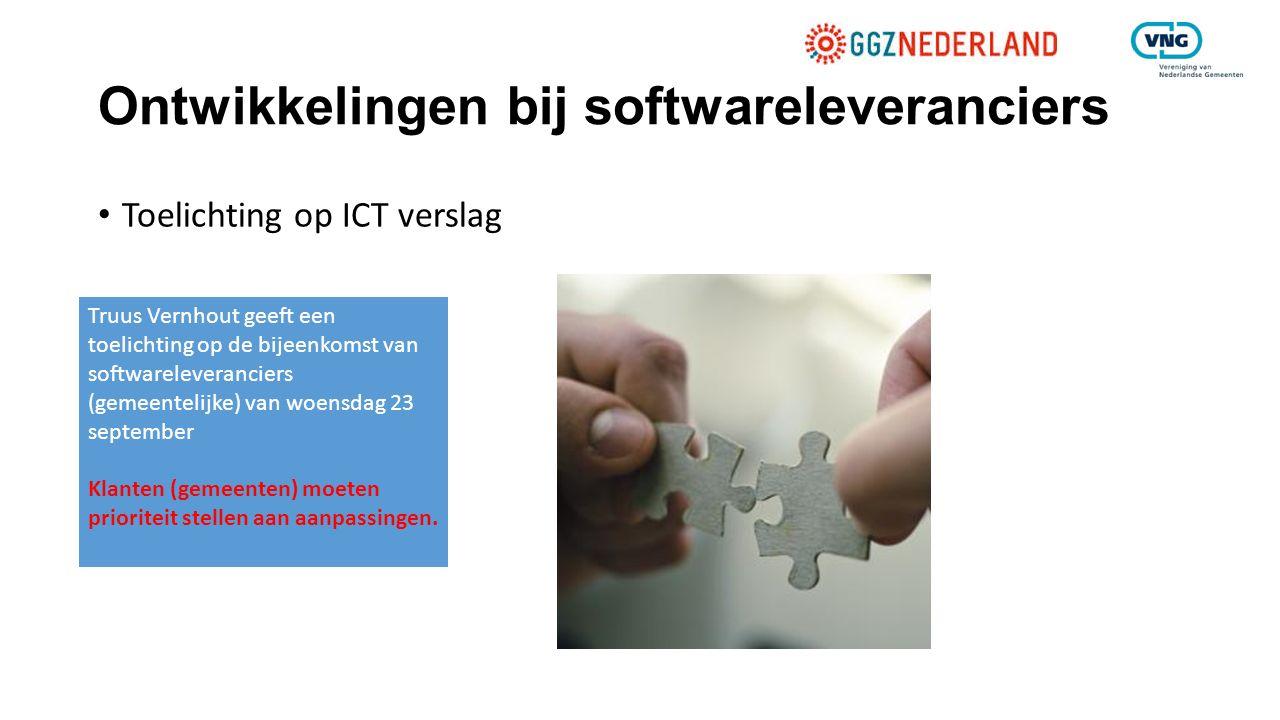 Ontwikkelingen bij softwareleveranciers