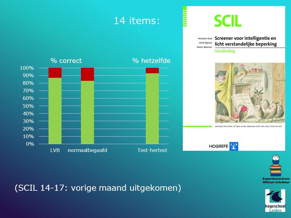 14 items: (SCIL 14-17: vorige maand uitgekomen)