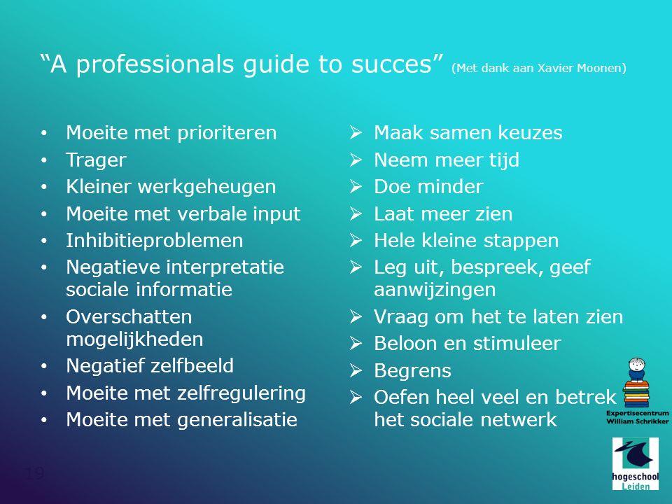 A professionals guide to succes (Met dank aan Xavier Moonen)