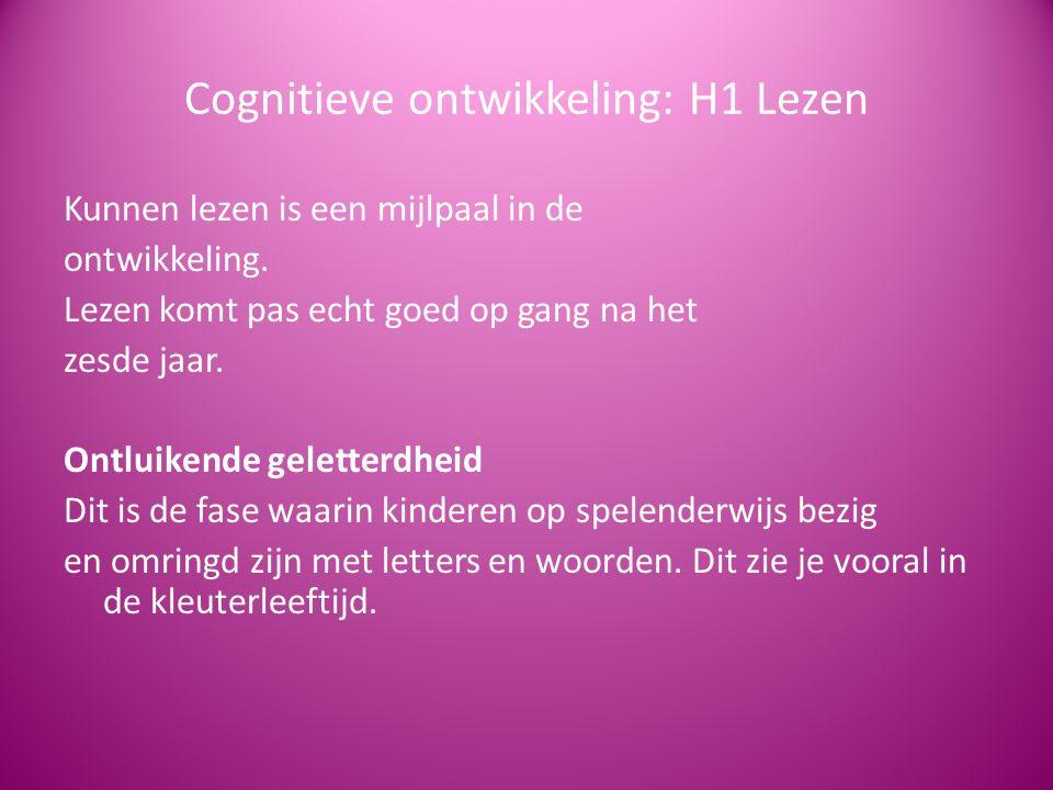 Cognitieve ontwikkeling: H1 Lezen