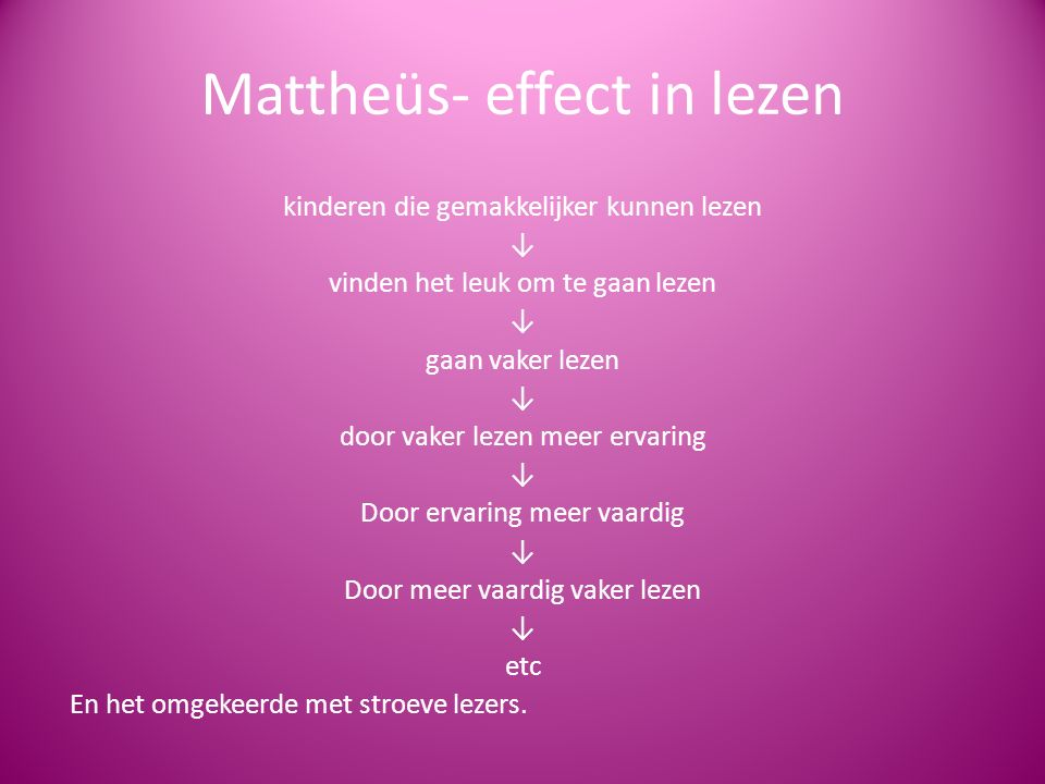 Mattheüs- effect in lezen