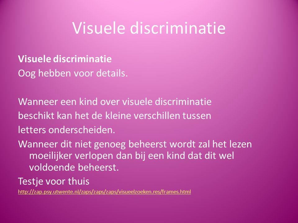 Visuele discriminatie