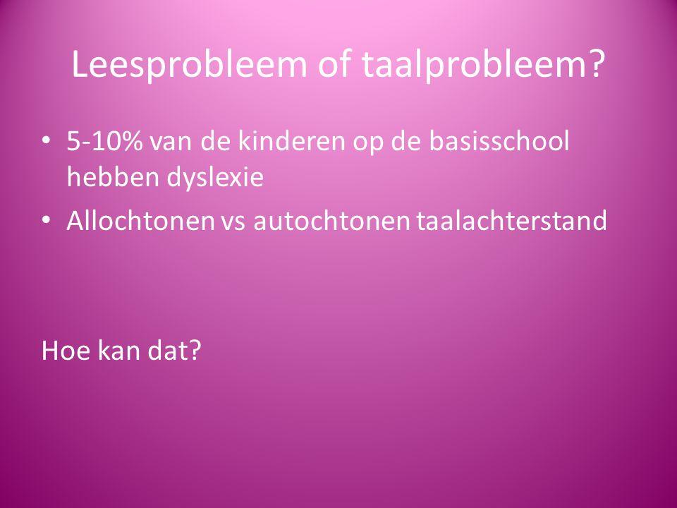Leesprobleem of taalprobleem