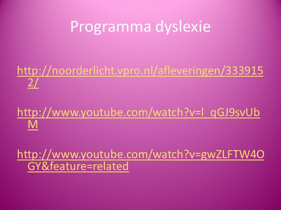 Programma dyslexie
