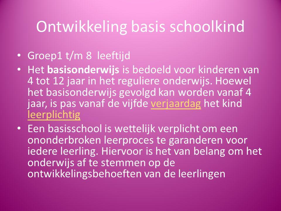 Ontwikkeling basis schoolkind