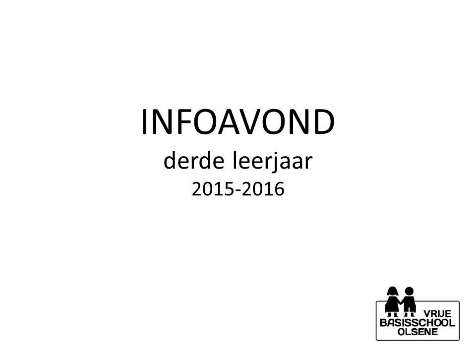 INFOAVOND derde leerjaar 2015-2016