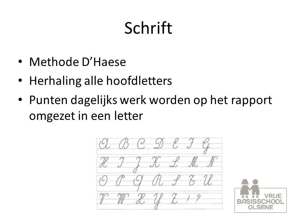 Schrift Methode D'Haese Herhaling alle hoofdletters
