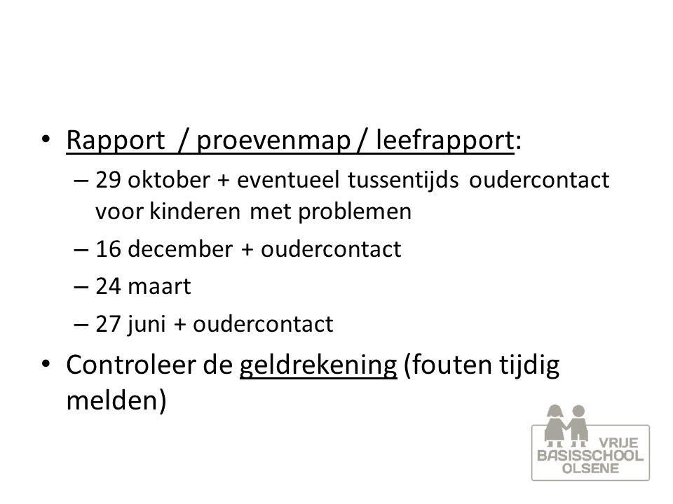 Rapport / proevenmap / leefrapport:
