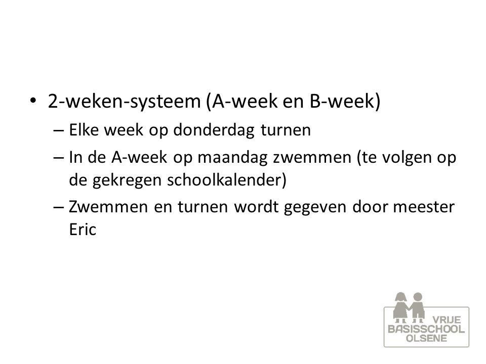 2-weken-systeem (A-week en B-week)