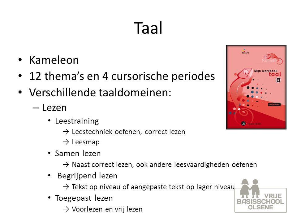 Taal Kameleon 12 thema's en 4 cursorische periodes