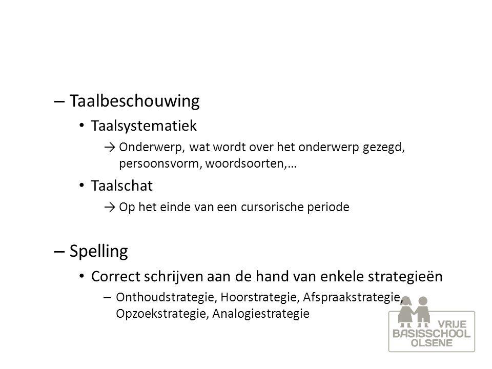 Taalbeschouwing Spelling Taalsystematiek Taalschat