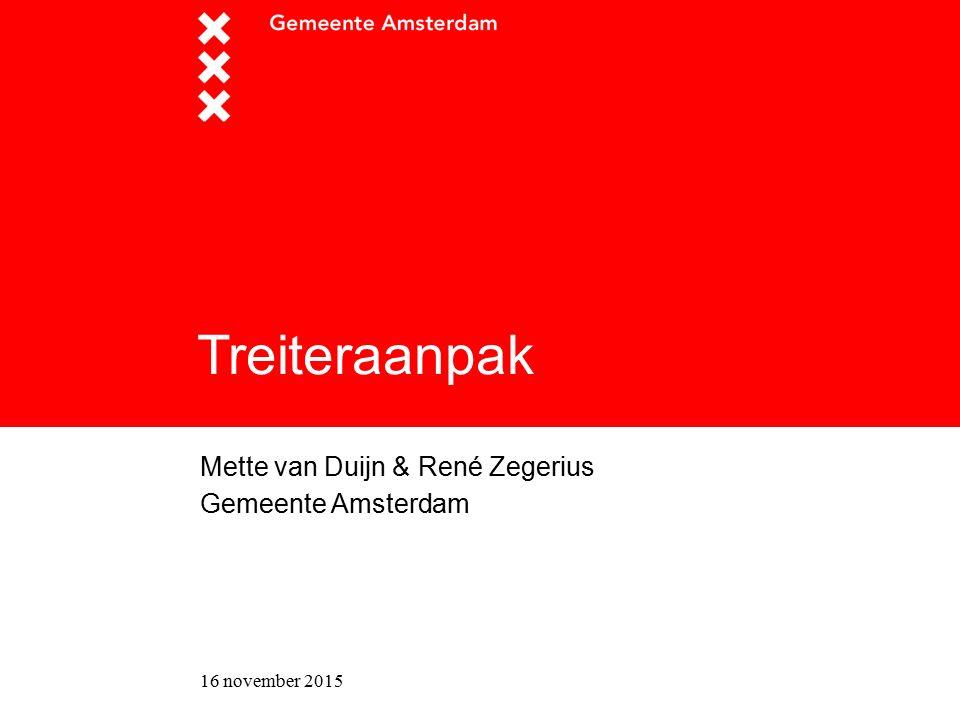 Titel presentatie Mette van Duijn & René Zegerius Gemeente Amsterdam