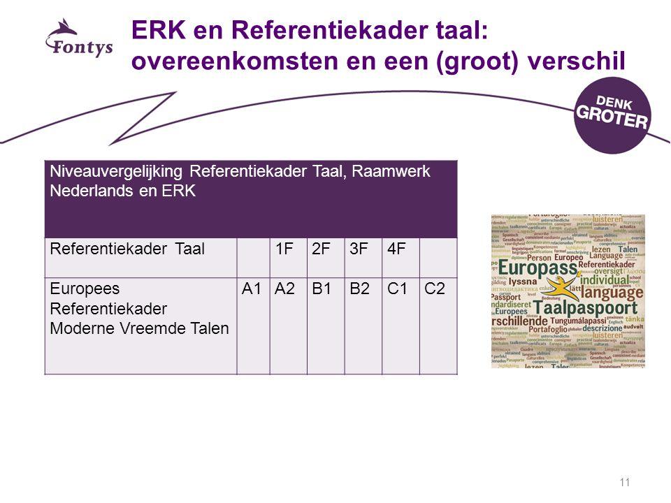 ERK en Referentiekader taal: overeenkomsten en een (groot) verschil