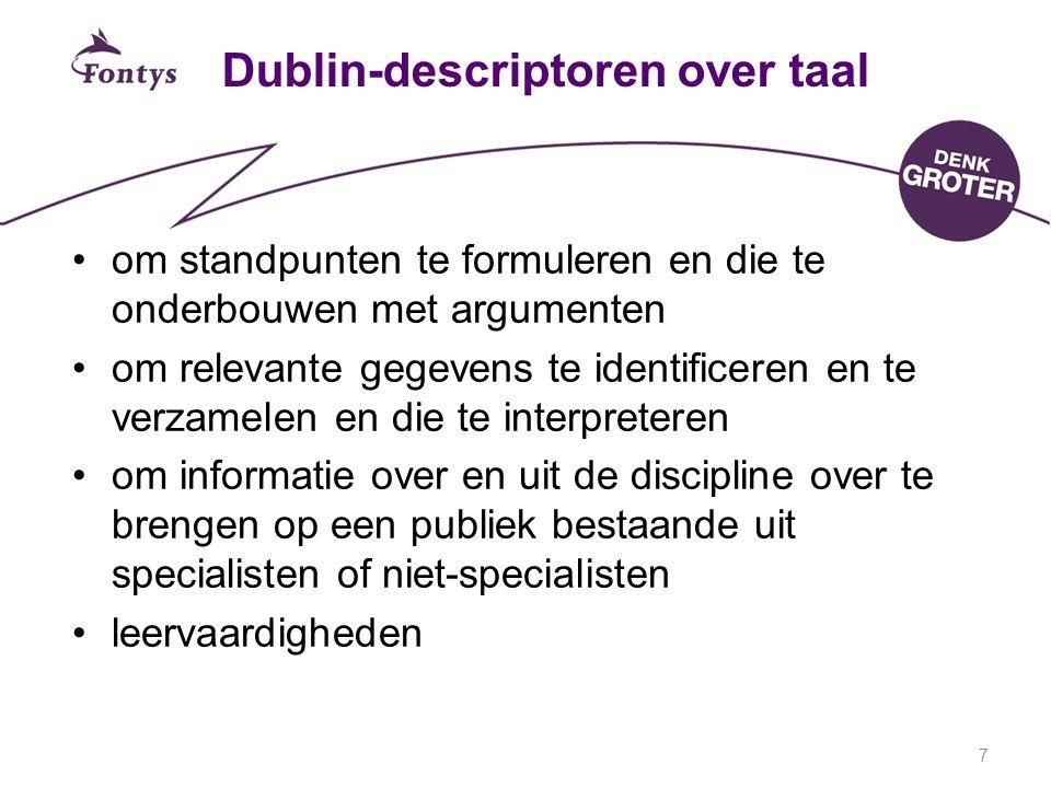 Dublin-descriptoren over taal