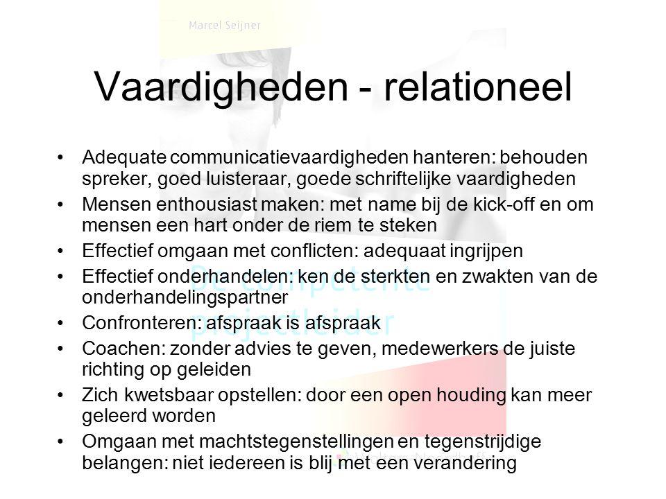 Vaardigheden - relationeel