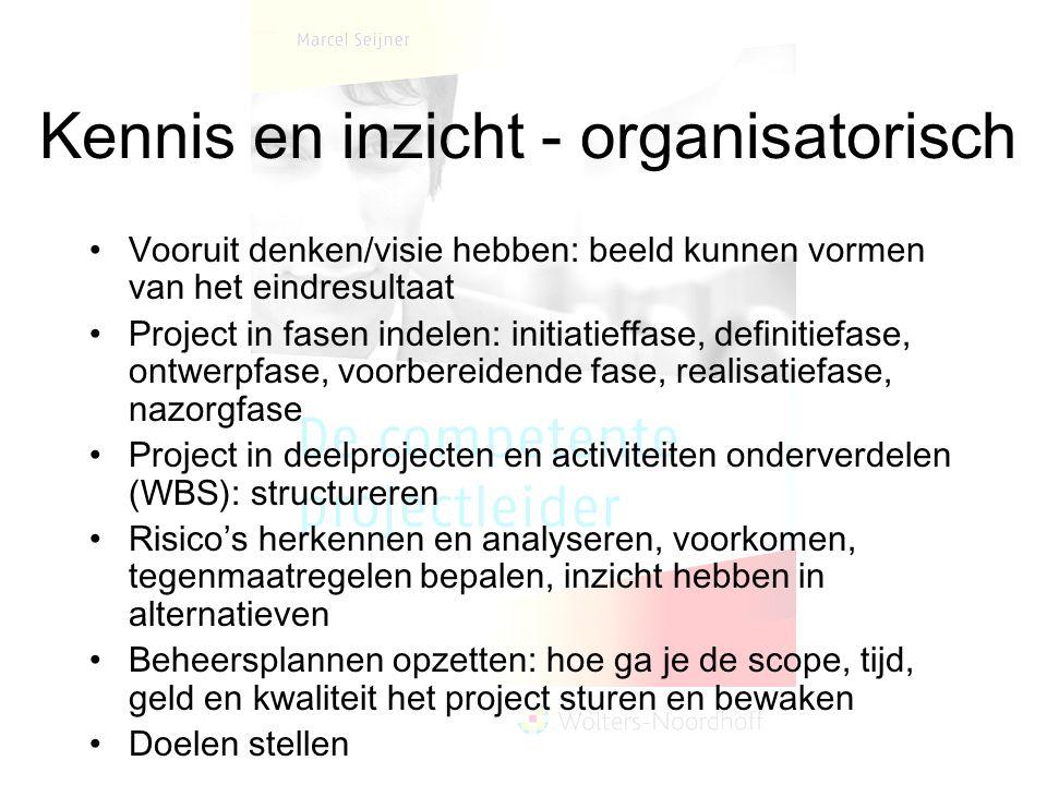 Kennis en inzicht - organisatorisch