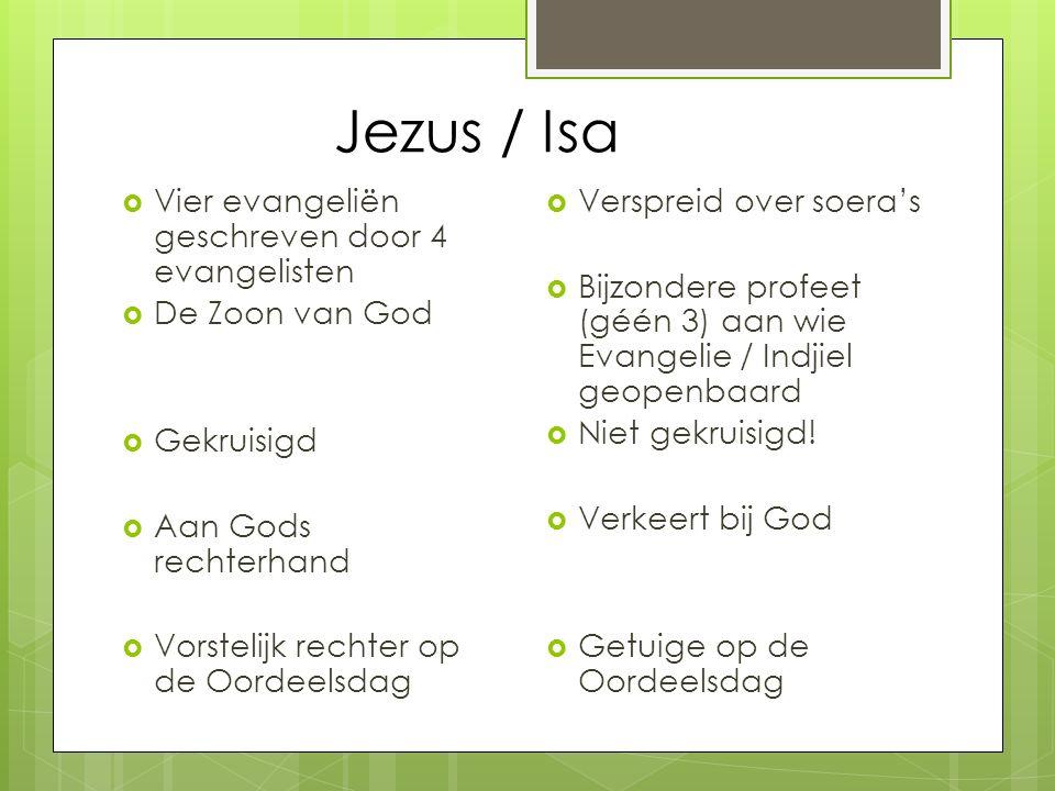 Jezus / Isa Vier evangeliën geschreven door 4 evangelisten