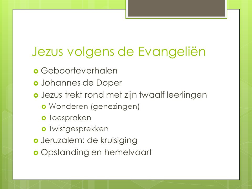 Jezus volgens de Evangeliën