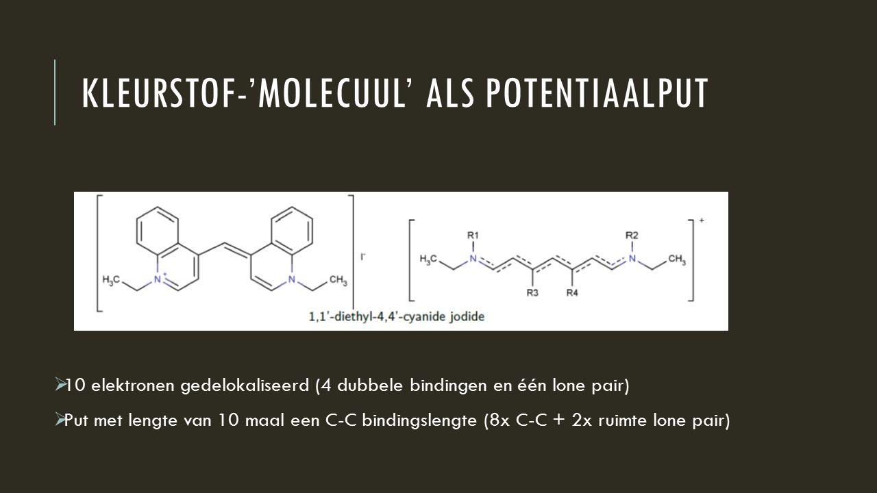 Kleurstof-'molecuul' als potentiaalput