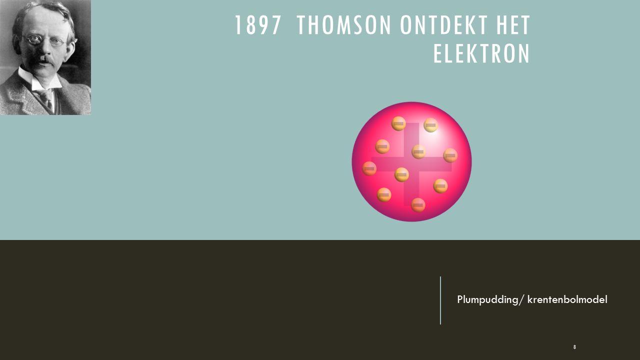 1897 Thomson ontdekt het elektron