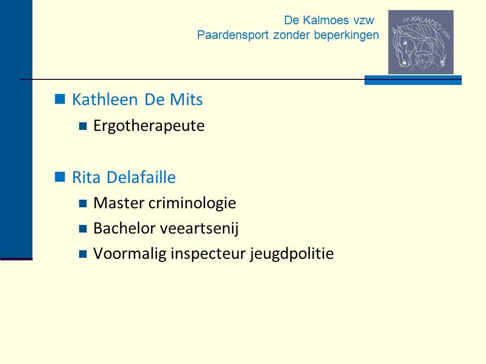 Kathleen De Mits Rita Delafaille Ergotherapeute Master criminologie