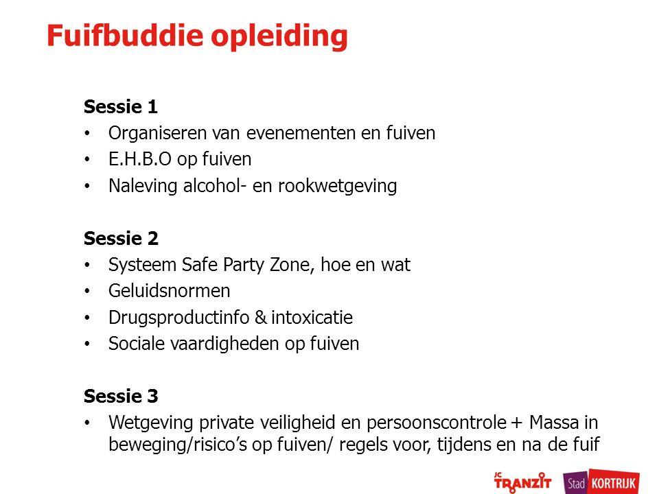 Fuifbuddie opleiding Sessie 1 Organiseren van evenementen en fuiven
