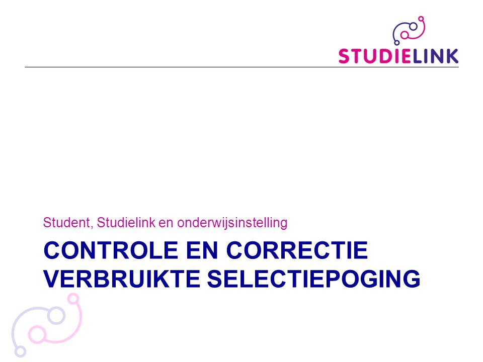 Controle en correctie verbruikte selectiepoging