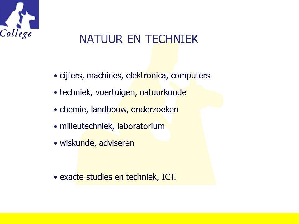 NATUUR EN TECHNIEK cijfers, machines, elektronica, computers