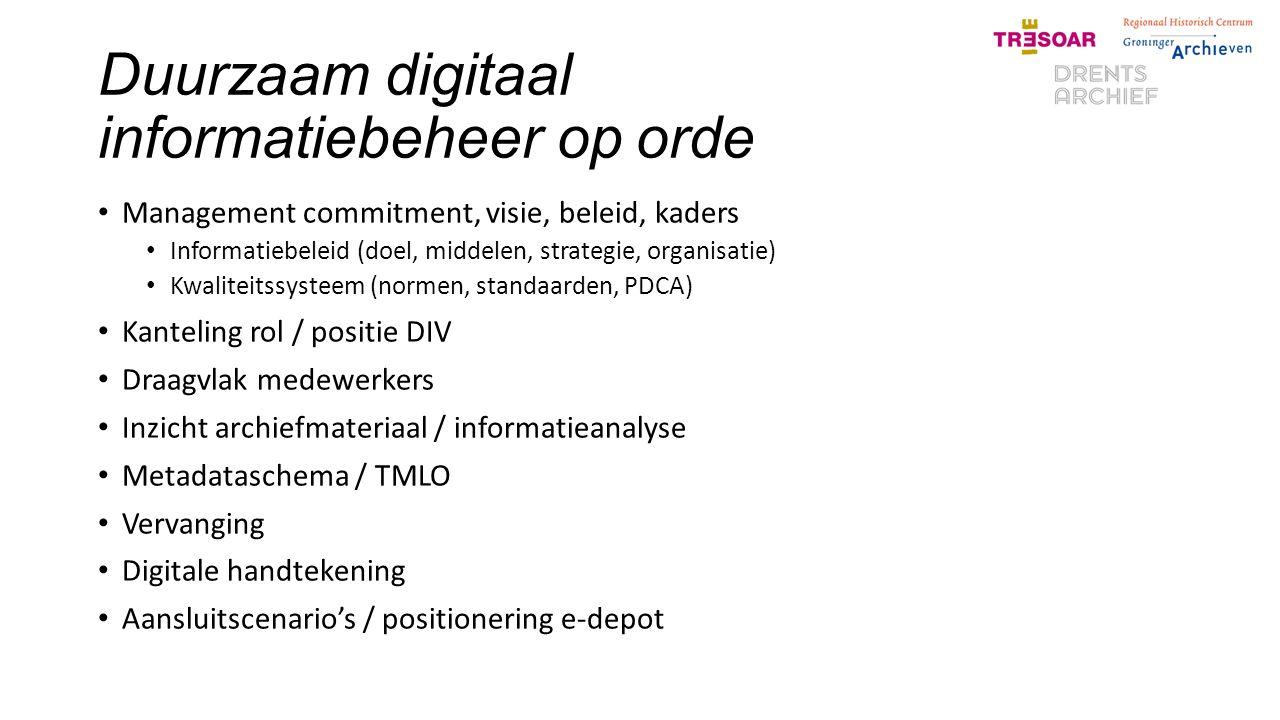 Duurzaam digitaal informatiebeheer op orde