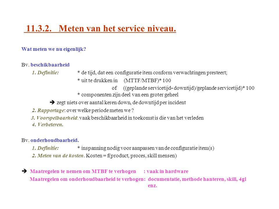 11.3.2. Meten van het service niveau.