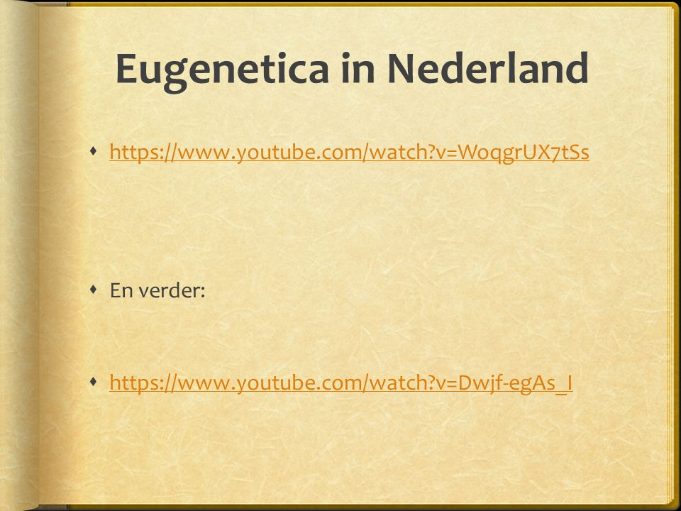 Eugenetica in Nederland