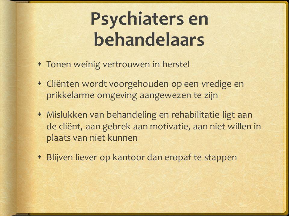 Psychiaters en behandelaars